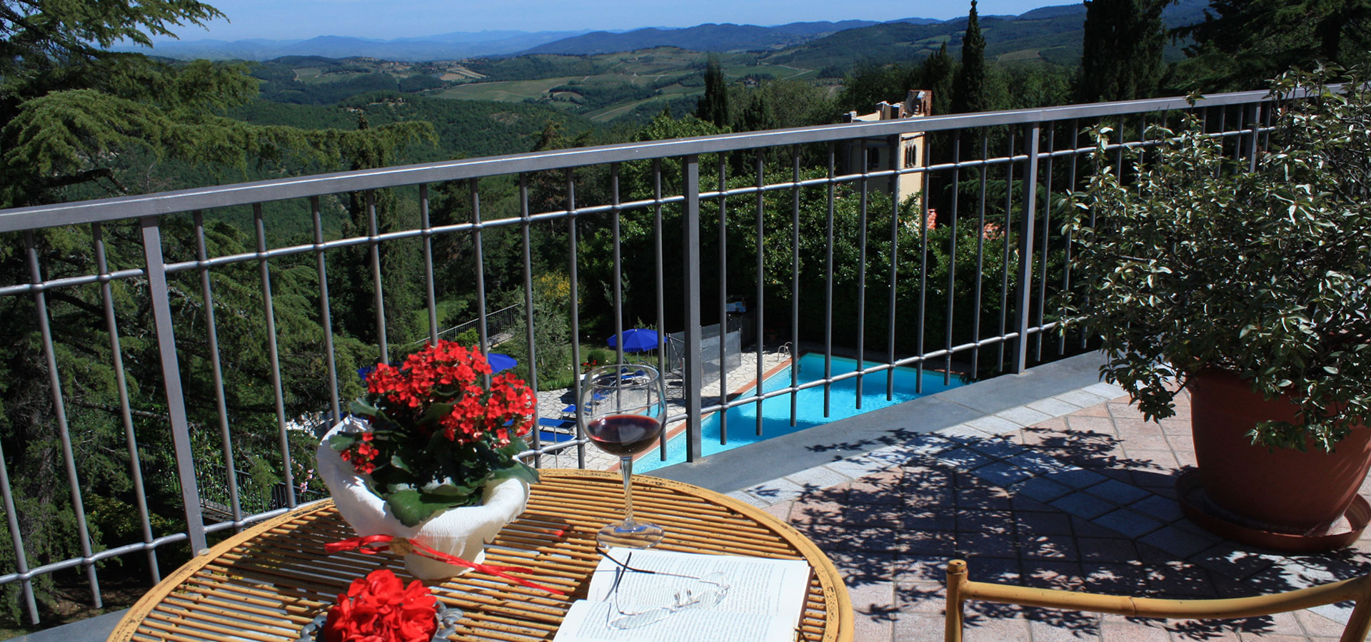 Bed and Breakfast Chianti con piscina camere appartamento Toscana